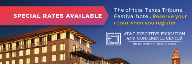 The Texas Tribune Festival Registration hotel banner