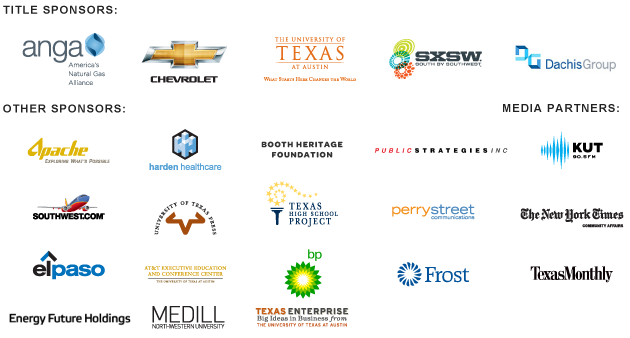 The Texas Tribune Festival Sponosor logos